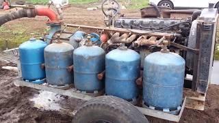 Irrigation avec enrouleur a rampe au gaz السقي بالغاز بالمغرب