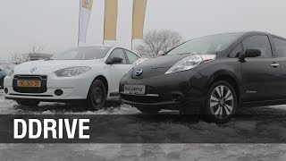 Nissan Leaf vs Renault Fluence ZE - DDrive - сравнение электромобилей
