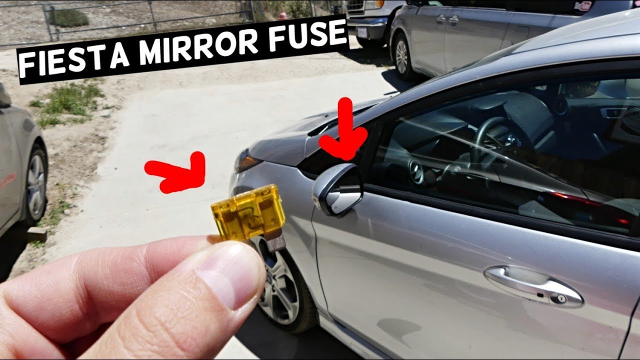 ford fiesta mirror fuse location replacement mk7 st