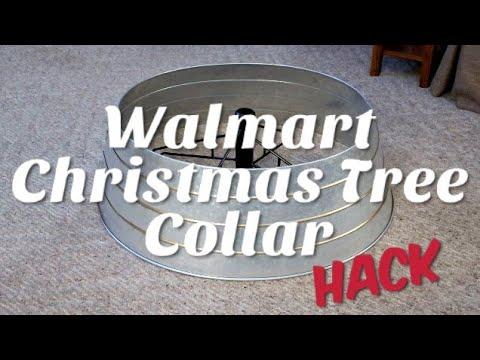 Walmart Christmas Tree Collar HACK / DIY Farmhouse Decor