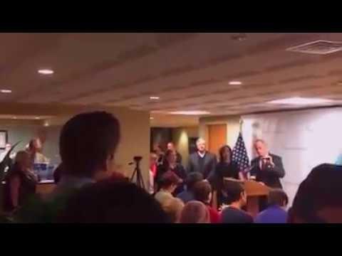 Sanders Delegate vs. Dem Senator Tom Carper on Prescription Drug Bill