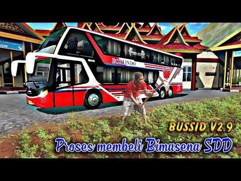 Proses Membeli Bus Bimasena SDD Bussid  V2.9 Versi Mbah Purnomo