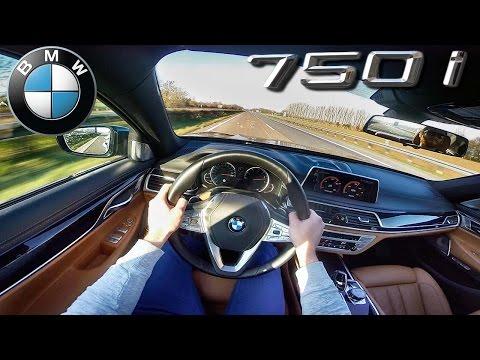 POV 2016 BMW 7 series 750i TOP SPEED 4.4 V8 BiTurbo 260 km/h on AUTOBAHN | xDrive & M Sport
