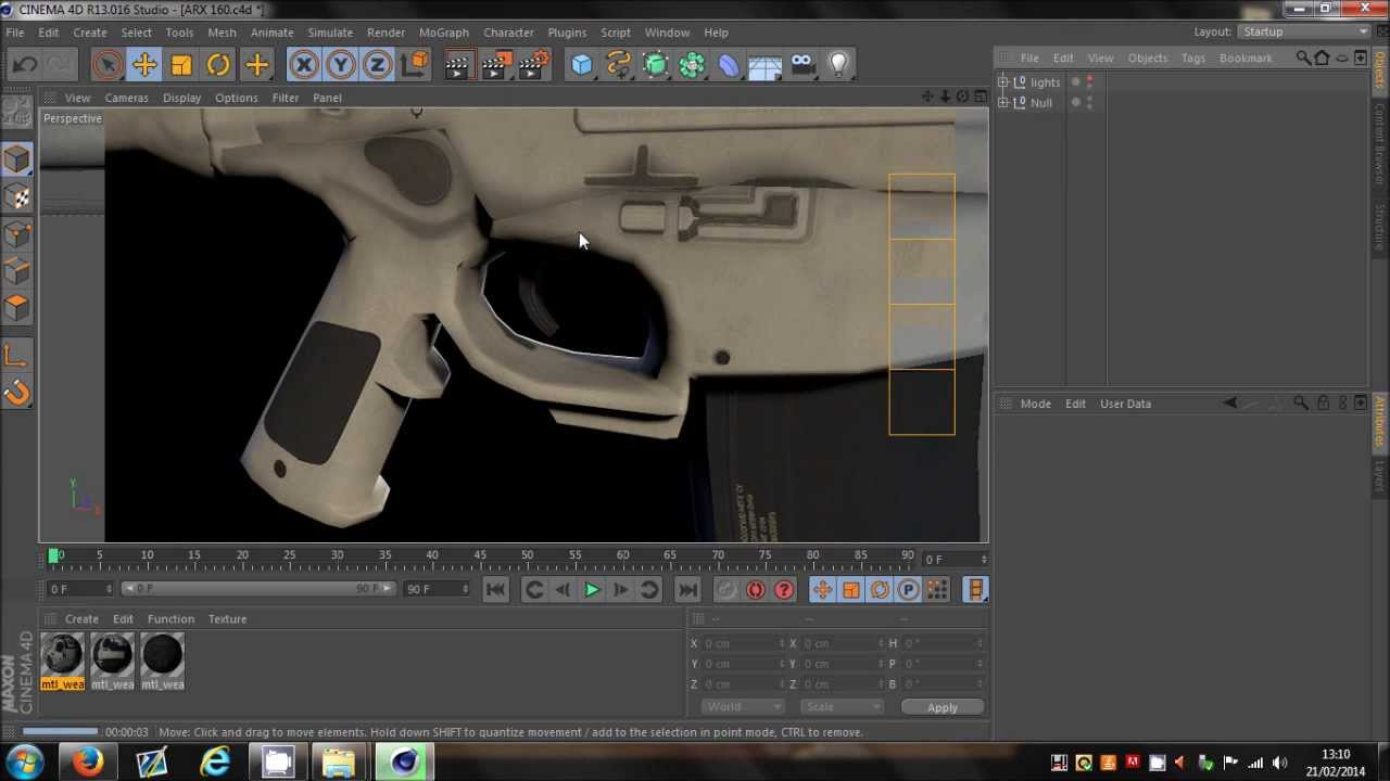 Cinema 4D | COD Ghosts Weapon Model Pack