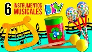 DIY Fabrica tus propios INSTRUMENTOS CASEROS ¡reciclando! * 🎸 6 MANUALIDADES FÁCILES para NIÑOS