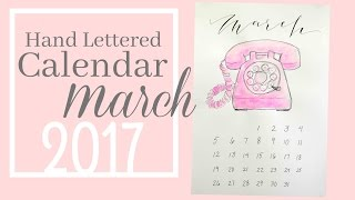 Pink Telephone Calendar | March 2017