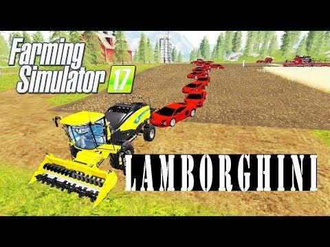 LAMBORGHINI BALING, BALE CARS IN GOLDREST VALLEY, Farming Simulator 17