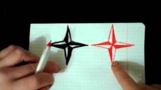 Как нарисовать  3D звезду(, 2016-01-06T18:04:37.000Z)