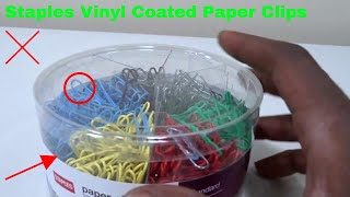 ✅  How To Use Staples Vinyl Coated Paper Clips Review