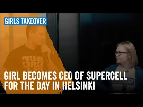 Girl becomes CEO of Supercell for the day in Helsinki
