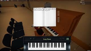 Roblox \ Horrible Piano stuff / Claire De lune