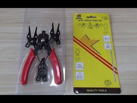 Инструмент для снятия стопорных колец 4 в 1 - Обзор