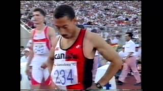 1992 Olympics, 110m Hurdles Final, Barcelona, Spain