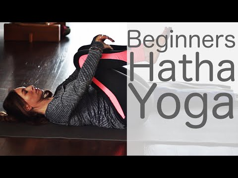 28 Minute Beginners Hatha Yoga with Fightmaster Yoga