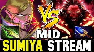 75min 9-Slotted Invoker vs MID AXE | Sumiya Invoker Stream Moment #1075