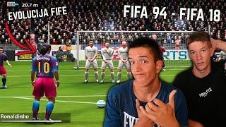 EVOLUCIJA FIFE! FIFA 94 - FIFA 18 [FREE KICKS]