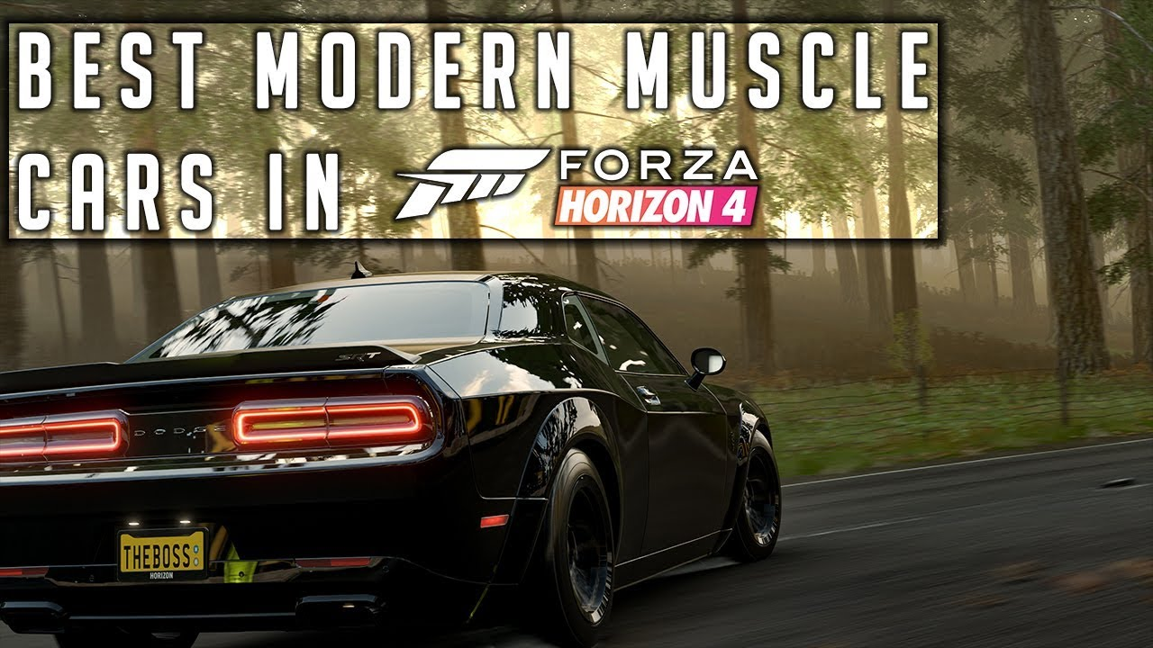 Best Modern Muscle Pony Cars In Forza Horizon 4 Youtube