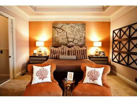 Burnt orange bedroom walls ideas youtube - Burnt orange feature wall living room ...