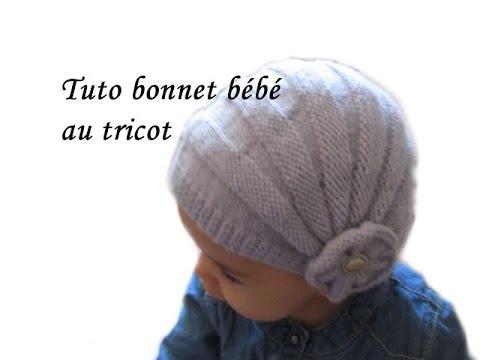 Tuto bonnet bebe style charleston point de godron et - Comment tricoter un bonnet pour bebe ...