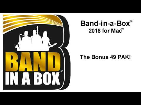 Band-in-a-Box® 2018 for Mac® ! Everything you need to know in under 5 minutes*