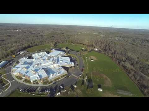 Alien 560 quadcopter view of Bay Path Regional Vocational Technical High School