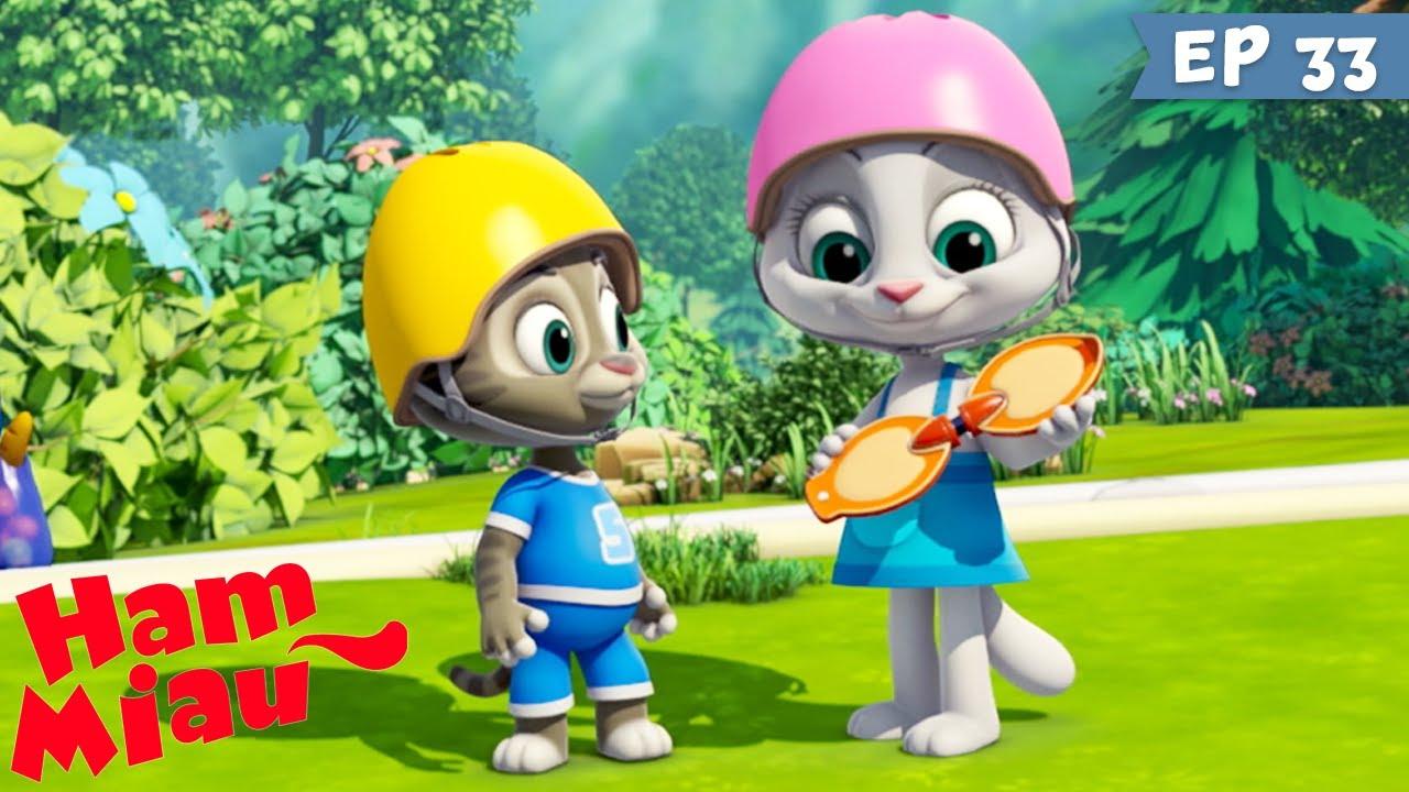 Ham Miau ? Skateboardul ? Desene pentru copii cu sport - HeyKids