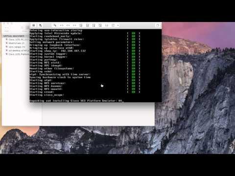 Installation of Cisco UCS Platform Emulator on VMware Fusion - Mac