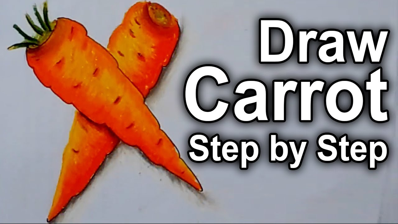 How To 3d Art Carrot Draw A Carrot Easy Step By Step 3d Carrot