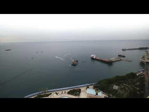 Monaco land extension, January 2019, time lapse, construction site