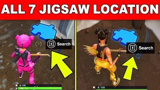 Search Jigsaw Puzzle Pieces under Bridges and in Caves - ALL 7 LOCATIONS WEEK 8 CHALLENGES FORTNITE