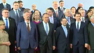 Встреча и совместное фотографирование глав делегаций на СМИД ОБСЕ