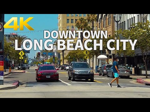 LONG BEACH REOPENS - Walking Downtown Long Beach City, Los Angeles, California, USA - 4K UHD