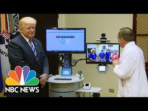 Donald Trump Participates In Interactive Veterans Affairs 'Telehealth' Event   NBC News
