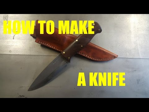 Knifemaking Tutorial- How To Make a Knife With Basic Tools