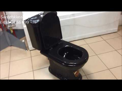 Унитаз черный Monaco VI 3P (Монако VI3P). SantehKlass.ru