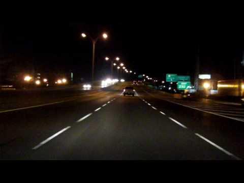 Claiborne and Pontchartrain Expressways (Interstate 10 Exits 238 to 230) westbound (Night)