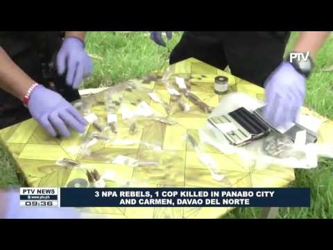 3 NPA rebels, 1 cop killed in Panabo City and Carmen, Davao Del Norte