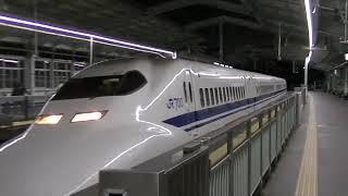 [JR西日本]700系3000番台(B編成)ひかり441号 新神戸1番到着[2019年3月で見納め]
