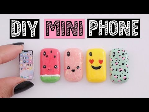 4 AMAZING DIY MINI Phone Cases - Miniature iPhone X!
