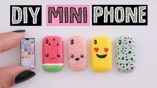 4 AMAZING DIY MINI Phone Cases - Miniature iPhone X!
