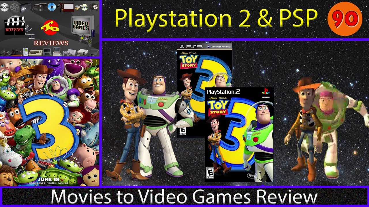 Movies To Video Games Review Toy Story 3 Ps2 Psp Youtube