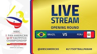 Brazil v Peru - I U-17 Women's Softball Pan American Championship - Opening Round