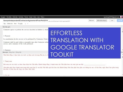 USE GOOGLE TRANSLATOR TOOLKIT TO TRANSLATE A WHOLE DOCUMENT
