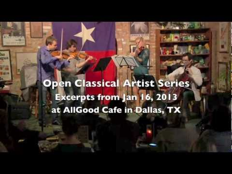 Open Classical Artist Series: Jan 16 at AllGood in Dallas TX