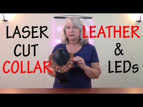 How to Make a Laser Cut Leather Steampunk Necklace with LED Lights