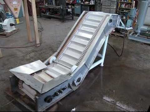 Used Inclined Cleated Belt Conveyor From J Amp M Industrial