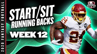 2020 Fantasy Football Advice - Week 12 Running Backs - Start or Sit? Every Match Up