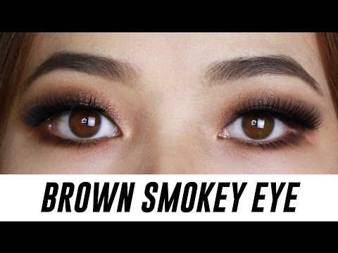 Brown Smokey Eye Makeup for Small Eyes