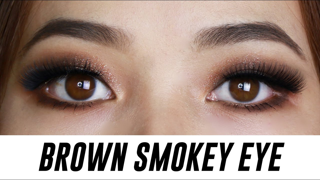 Brown smokey eye makeup for small hooded monolid eyes tina brown smokey eye makeup for small hooded monolid eyes tina yong youtube baditri Choice Image