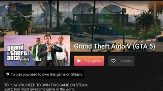 Play GTA 5 in your Android by spend some 💰